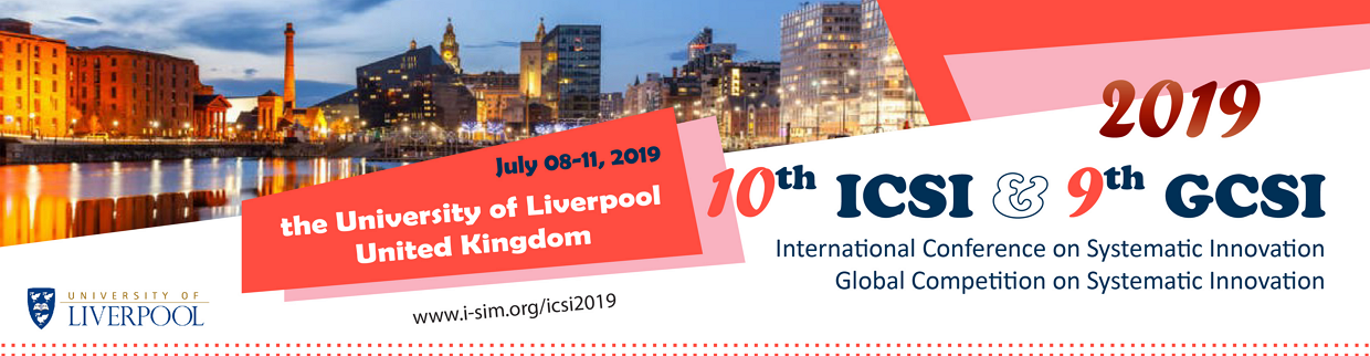 ICSI-2019 The 10th International Conference on Systematic Innovation